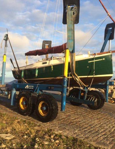 Lossiemouth Marina twenty five tonne semi-submersible sublift