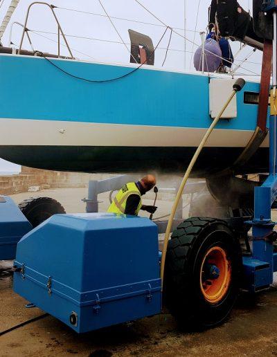 Lossiemouth Marina Boatyard Submersible Lift